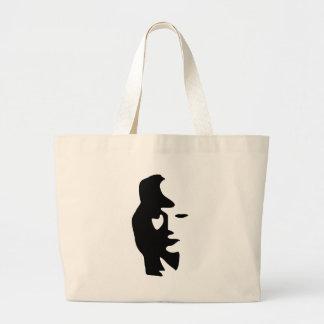 Saxophone Or Woman Optical  Illusion Canvas Bag
