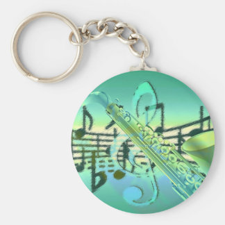 Saxophone Pastel Abstract Design Keychain
