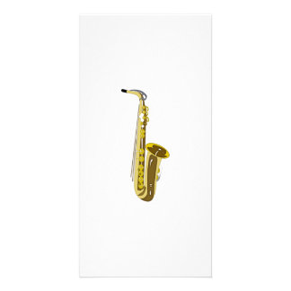 Saxophone Personalized Photo Card