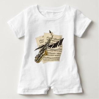 Saxophone & Piano Music Baby Romper