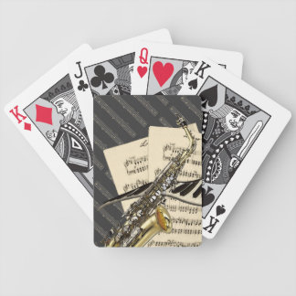 Saxophone & Piano Music Bicycle Playing Cards