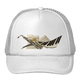 Saxophone & Piano Music Caps Trucker Hat