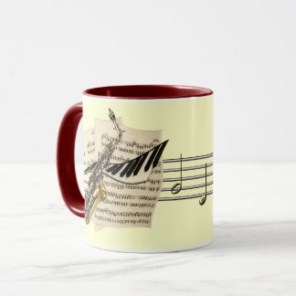 Saxophone & Piano Music Coffee Mug