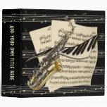 """Saxophone & Piano Music Design 2"""" Avery Binder"""
