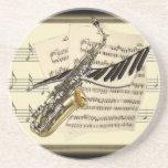 Saxophone & Piano Music Design Coaster