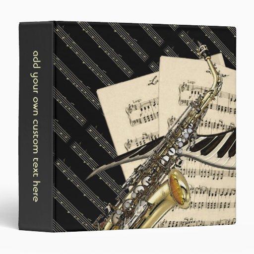 Saxophone & Piano Music Design Personalized Binders