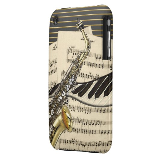Saxophone & Piano Music iPhone 3 Case