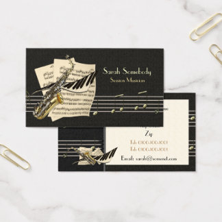 Saxophone & Piano Music Profile Card
