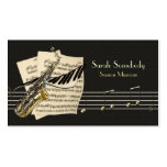 Saxophone & Piano Music Profile Card Double-Sided Standard Business Cards (Pack Of 100)