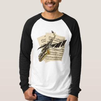 Saxophone & Piano Music T Shirt