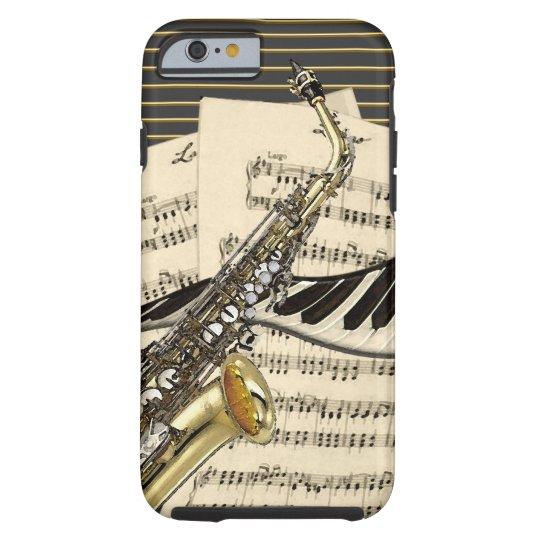 Saxophone & Piano Music Tough iPhone 6 Case