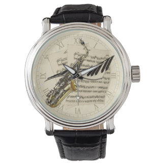 Saxophone & Piano Music Wrist Watches