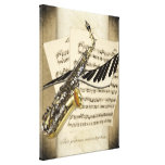 Saxophone & Piano Personalized Wall Canvas Canvas Print