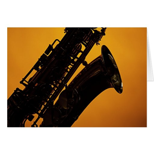 Saxophone Picture Greeting Card