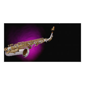Saxophone Picture Photo Card