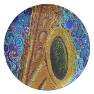 Saxophone Plate