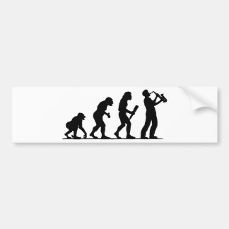 Saxophone Player Bumper Sticker