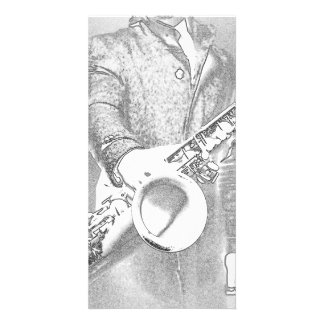 saxophone player... card