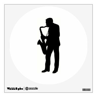 """""""Saxophone player"""" design gifts and products Wall Decal"""