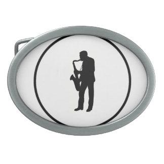 """Saxophone player"" design jewelry set Belt Buckle"