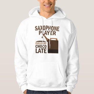 Saxophone Player (Funny) Chocolate Hoodie