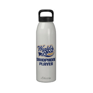 Saxophone Player Gift Water Bottle