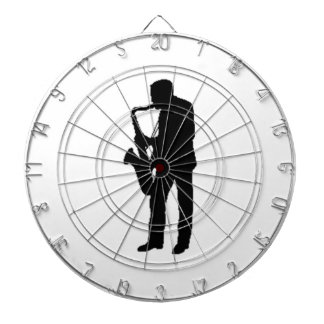 """Saxophone Player"" gifts and products Dartboard With Darts"