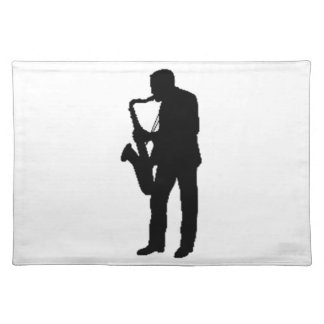 """""""Saxophone Player"""" gifts and products Cloth Place Mat"""