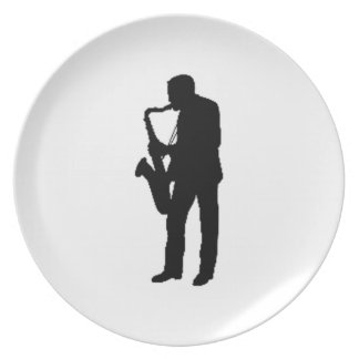 """""""Saxophone Player"""" gifts and products Plates"""