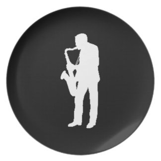 """""""Saxophone Player"""" gifts and products Party Plates"""