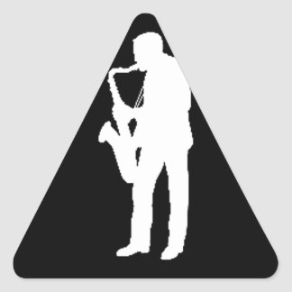 """""""Saxophone Player"""" gifts and products Triangle Sticker"""