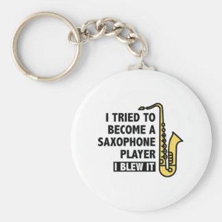 Saxophone Player Keychain