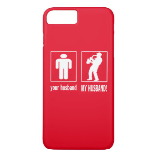Saxophone Player - My Husband iPhone 7 Plus Case