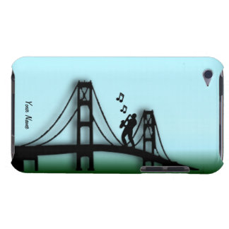 Saxophone Player on Golden Gate Bridge iPod Case Barely There iPod Case