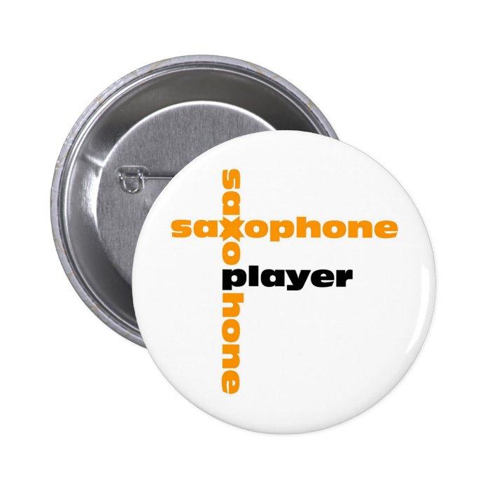 Saxophone Player Pinback Button