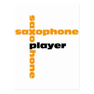 Saxophone Player Postcard