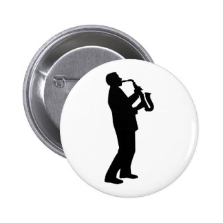 Saxophone player saxophonist pinback buttons