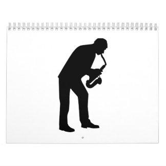 Saxophone player saxophonist calendar