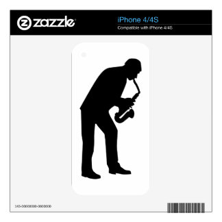 Saxophone player saxophonist iPhone 4S skins