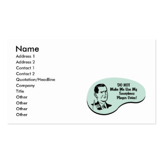 Saxophone Player Voice Business Card