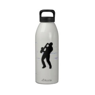 Saxophone Player Water Bottle