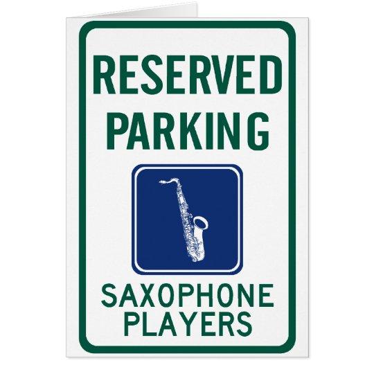 Saxophone Players Parking Card