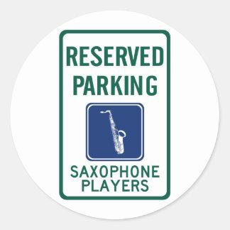 Saxophone Players Parking Sticker