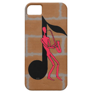 Saxophone playing man pen ink drawing i phone case iPhone 5 cover