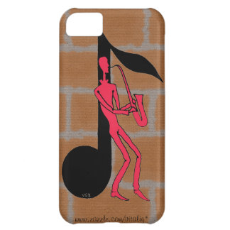 Saxophone playing man pen ink drawing i phone case case for iPhone 5C