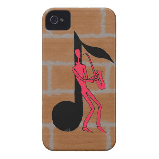 Saxophone playing man pen ink drawing i phone case iPhone 4 case