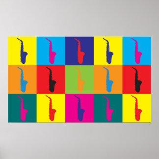 Saxophone Pop Art Poster