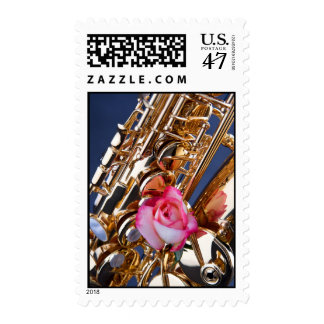 Saxophone Postage Stamp for Personalized Mail