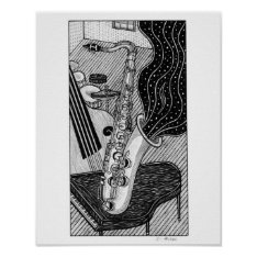 Saxophone Poster at Zazzle