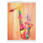 Saxophone Products Greeting Cards